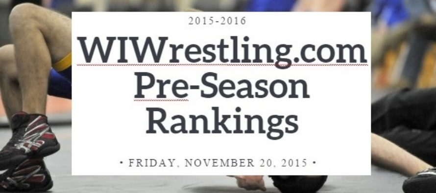 11-20-15 WIWrestling.com Rankings Edition 1 Pre-Season