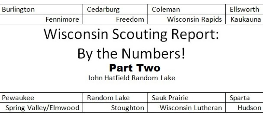 Wisconsin Scouting Report Part Two: By the Numbers; The Odds