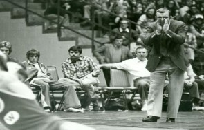 MADISON, WI: Duane Kleven coaches the Badgers at the UW field house.