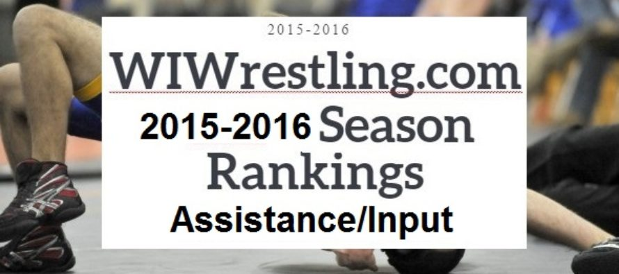 2015-2016 Wisconsin RANKINGS Assistance!