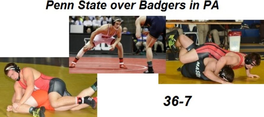 Badgers upended by top-ranked Penn State