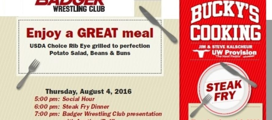 Pine Bluff, WI; Bucky's Cooking Steak Fry: August 4