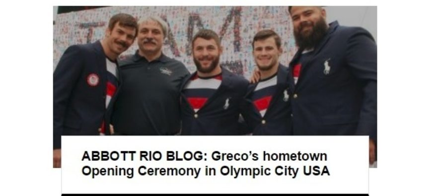 US Greco Celebrates Rio Opening Ceremony on Home Turf