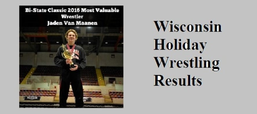 Wisconsin Holiday Wrestling Results 2016-2017