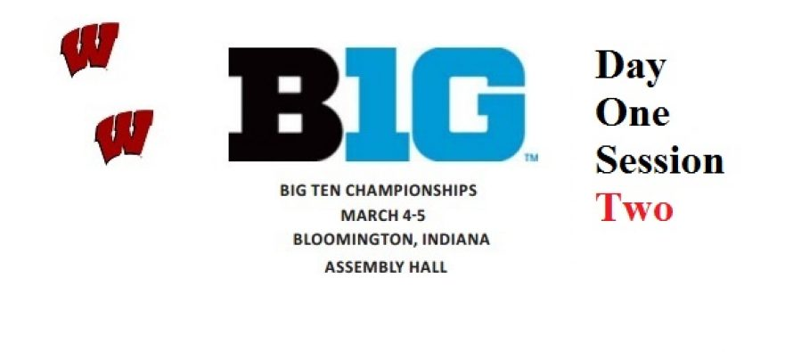 Day 1 Session 2 Big 10   6 Badgers Qualify for NCAA Tournament, so far