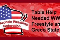 Table Help Needed – Freestyle and Greco State | May 6-7
