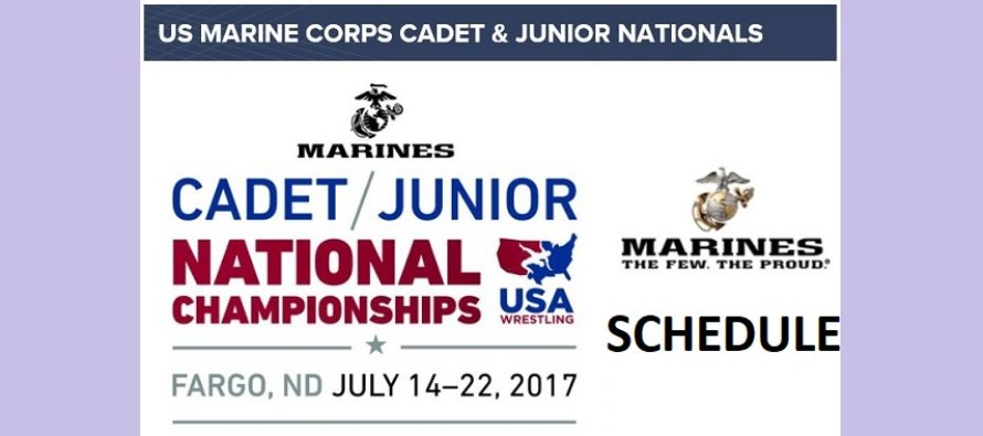 US Marine Corps USAW Junior and Cadet National Schedule 2017