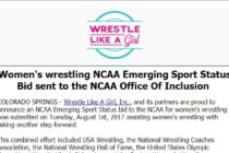 Women's wrestling NCAA Emerging Sport Status Bid to NCAA Inclusion Office