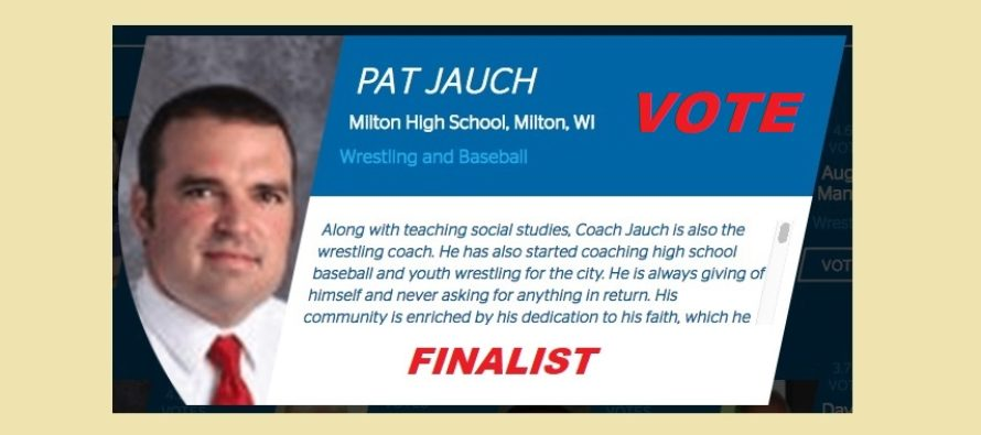 Jauch Announced as Finalist for Most Valuable Coach Program!