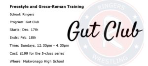 Ringers Gut Club: Winter Freestyle and Greco-Roman Training
