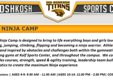 Titan Ninja Camp | UW Oshkosh | August 2-3